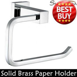 Wholesale Toilet Paper Holder Roll Holder Tissue Holder Solid Brass Chrome Finished Bathroom Accessories Products