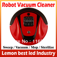 Wholesale 4 In Multifunction Robot Vacuum Cleaner Auto Sweep Vacuum Mop Sterilize Virtual Wall and Self Charge