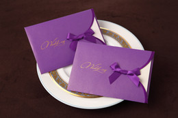 Wholesale Customized Beige color foding wedding invitation card fold invitations cards favors a