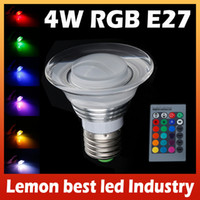 Wholesale Brand New W W E27 LED RGB Dimmable Acrylic Bulb Color Change Lamp for home garden party decoration Freeshipping LemonBest