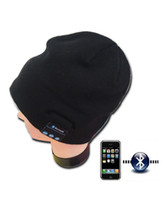 Wholesale Gray Wireless Music Hat Wearable Musical Beanie Cap with Built in Bluetooth Headphone Stereo Speakers Mic Hands Free Gift Box
