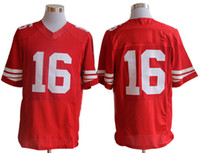 Wholesale 49ers Montana Red Elite American Football Jerseys Brand Sports Jerseys Cheap Mens Clothes With Names and Numbers Fashion Sports Jerseys