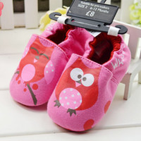 Wholesale Lovely cartoon owl baby shoes Cotton baby girl pre walkers new product
