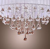 Wholesale White Crystal Drop Light Pendant Light Chandelier Crystal Pendant Lamps Chandelier Living Room Chandelier
