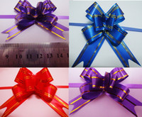 Christmas pull bows - Free Ship Small mm Christmas Gift Packing Pull Bow Ribbons Decorative Holiday Gift Flower Ribbons