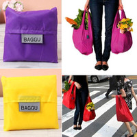 Wholesale smileseller Nylon Waterproof Foldable Reusable Eco Shopping Tote Storage Grocery Bags PA19