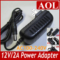 Wholesale Power Supply for SMD led Strip Light AC100V V DC V A DC port mm Power Adapter EU US UK plug choice