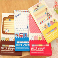 Wholesale 48 Fresh Cute Tower Matches Style Notebook Memopad Notepad Stickers