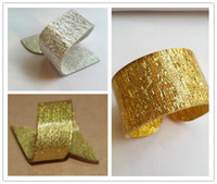 Wholesale Gold Silver Napkin Rings Colors Napkin Rings buckle For Weddings Party Home Decoration