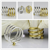 Wholesale Gold and Silver Stainless Steel Napkin Rings For Weddings Party Home Decoration Factory Supply Fedex