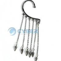 Wholesale NEW Dangle Hot Gothic Punk Rivets Ear Cuff Chains Tassels Earring