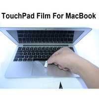 Wholesale Dustproof Clear Toudhpad Protector For MacBook Air quot Pro Retina quot quot quot PET Film Guard amp Retail Package Free DHL