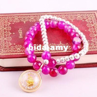 Wholesale Min order is mix order P40 Elegant fashion Thai Buddha Agate beads bracelet cRYSTAL sHOP