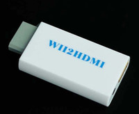 Wholesale Wii to HDMI Converter Adapter HDMI Connector Wii AV Multi Out Plug mm Stereo Audio Jack Wii2HDMI