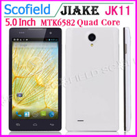 JIAKE  5.0 Android 4.2 JIAKE JK11 5.0 Inch QHD MTK6582 Quad Core 1.3GHz Android Cell Phone 1GB RAM 4GB ROM 5.0MP Camera 3G GPS Android 4.2