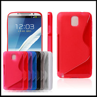 Wholesale Thin Candy Grip S Line Silicone Silicon TPU Gel Cell Phone Case Cases Cover for Samsung Galaxy Note3