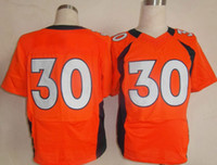 Wholesale Broncos Davis Orange Mens Elite Jerseys American Football Jerseys Football Jersey With Names and Numbers Senior Bowl Cheap Clothes