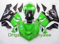 Wholesale 7gifts Free custom Pre drilled green black for Kawasaki Ninja ZX6R ZX R bodywork gifts s932111