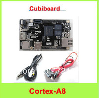 Wholesale Raspberry Pi Enhanced Version Mini PC Cubieboard GB ARM Development Board Cortex A8 with SATA Cable Power Supply Wire