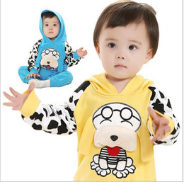Wholesale Spring Fall Wear Infant Baby Clothes Pure Cotton Good Quality Dog Hoodies Pants Toddler Boy Casual Sport Set Kids Su