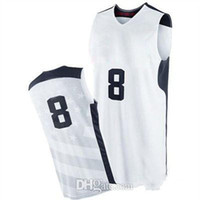 Wholesale USA Olympic Deron Williams White Basketball Jerseys Top Quality Revolution Basketball Uniforms Best Jerseys