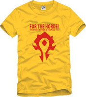 Wholesale Men Women of Warcraft World of Warcraft Horde logo T shirt WOWT peripheral T shirt shirt cotton short sleeved T shirt cartoon