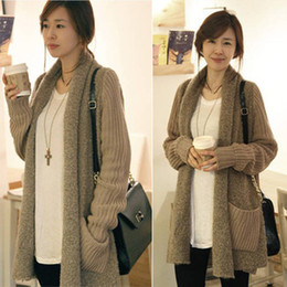 Wholesale sweaters plus size long design loose plush cardigan high quality and hot sales