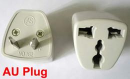 UK   US   EU Universal to AU AC Power Plug Adapter Travel Charger to AU Adaptor 3 pin Converter Australia 100pcs Lot Express free shipping