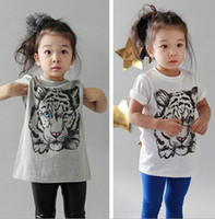 Wholesale europe fashion kids boy girl tiger t shirt tee children s girls boys tiger print short sleeve tshirts tops