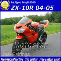 Wholesale 7Gifts Cowl black red plastic fairings set for Kawasaki Ninja ZX R ZX10R ZX R custom new aftermarket fairing kit W5
