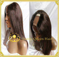 Cheap High quality AAAAA 100 virgin brazilain #4 brown half wig&u part 100% human hair free shipping