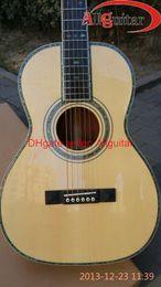Wholesale 45SC John Mayer Guitar Nylon string Classic Classical Acoustic guitar ebony fretboard AAA Solid Wood flower inlay Abalone Binding Body