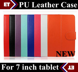 Hot DHL 50pcs PU Leather Folio Stand Case Cover shell for Universal 7 inch Tablet PC case PTA-C