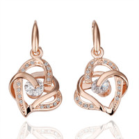 Wholesale 18k Gold Plated Earring High quality k gold earrings Fashion Jewelry krgpe082