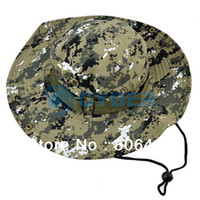 Wholesale New Unisex Outdoor Camping Caps Army Jungle Camouflage Prevented Bask Round Fishing Hats Colors