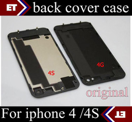 Wholesale - Back Glass Battery Housing Door Back Cover Replacement Part with Flash Diffuser for iphone 4 4S