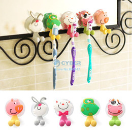 Wholesale Hot Sell Super Cute Cartoon Sucker Toothbrush Holder Suction Hooks