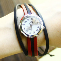 Wholesale dropship hot sale Russian fashion ring Cow Leather watches women leather