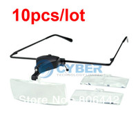 Wholesale 10Pcs Clip On X X X Led Magnifier Eye Glasses Magnifying Lens Reading