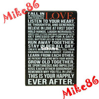 Metal Yes Antique Imitation [ Mike86 ] Love Poem Vintage Metal sign wall decor House Office Quote Metal Painting art B-122 Mix order 20*30 CM Free Shipping