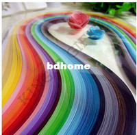 Wholesale 720PCS Quilling Paper mm Width x cm Length Mixed Colors DIY Paper Material