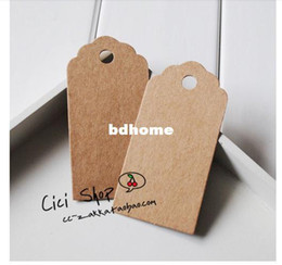 Wholesale SS006 Antique Kraft Paper Tags with Lovely Swirl Edges for Wedding Decoration DIY Card Making Scrapbooking
