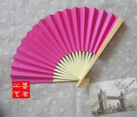 Wholesale I AM YOUR FANS Nice paper hand fan colors for choice best wedding idea