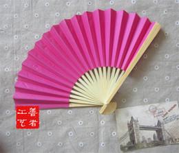 Wholesale I AM YOUR FANS Nice paper hand fan colors for choice best wedding idea