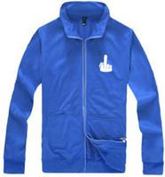 Cheap free shipping--Bohou erect middle finger fuck men and women winter collar cardigan zipper wholesale lovers