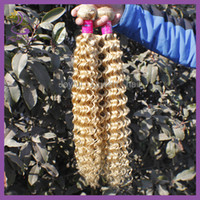 Cheap 5A Virgin Human Hair Extension Brazilian Kinky Curly Weave 3Pcs Lot 8-30Inch 613# Color Hot Sale Price High Quality Free Shipping