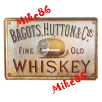 Metal Yes Antique Imitation [ Mike86 ] Bagots Fine Old Whiskey Tin sign Art wall decor House Cafe Bar Vintage Metal signs A-37 Mix order 20*30 CM