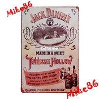 Metal Yes Antique Imitation [ Mike86 ] Vintage Dannie whiskey poster Tin Signs Art wall decor bar Metal Paintings B-35 Mix order 20*30 CM Free Shipping