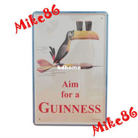Metal Yes Antique Imitation [ Mike86 ] AIM FOR A GUINNESS BEER Metal signs Art wall decor House Cafe Metal Paintings A-3 Mix order 20*30 CM Free Shipping