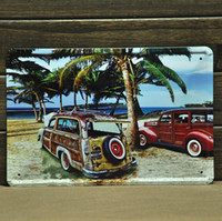 Metal Yes Antique Imitation [ Mike86 ] Beach Car Metal tin sign Art decor House Cafe Bar Vintage Wall signs A-205 Mix order 20*30 CM